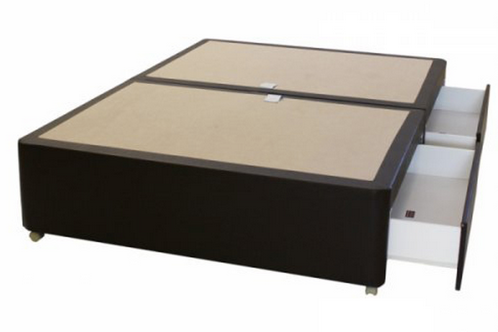 Leather padded divan base bf beds leeds cheap beds leeds for Cheap single divan bed base