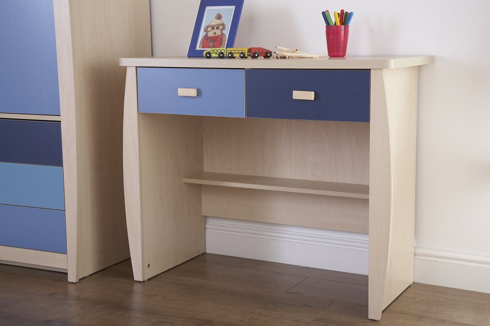 Sydney 2 drawer desk bf beds leeds cheap beds leeds for Cheapest divan beds with drawers