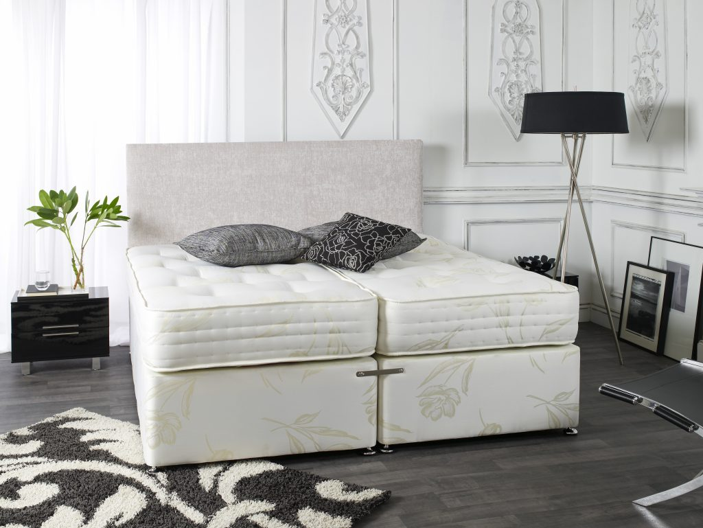 Kensington 1500 pocket spring divan bed bf beds leeds for Cheap king size divan beds with storage