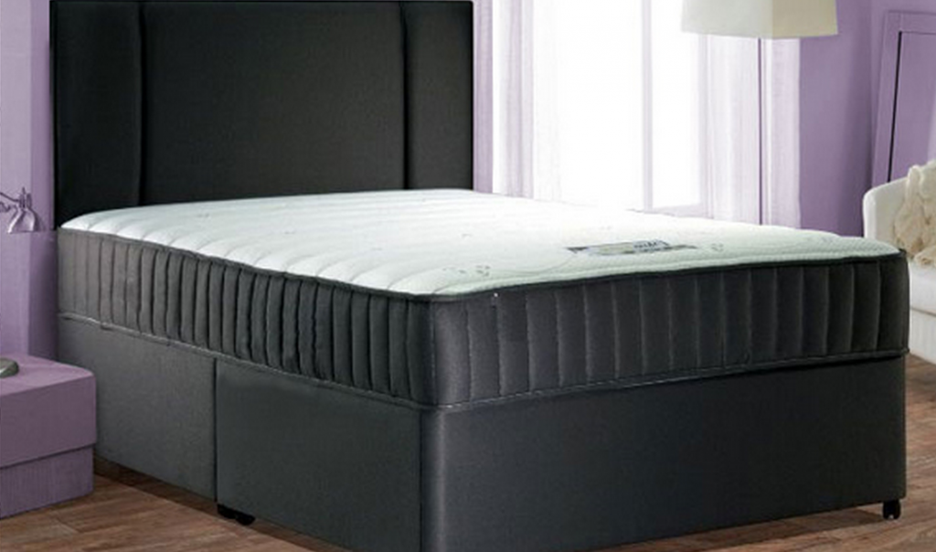 Faux leather divan bed set bf beds leeds cheap beds leeds for Cheap beds with mattresses included