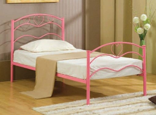 nancy-pink-metal-girls-bed-frame