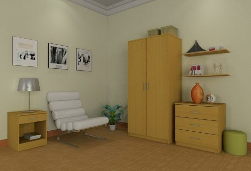 3pcs budget set roomview – (light beech)..