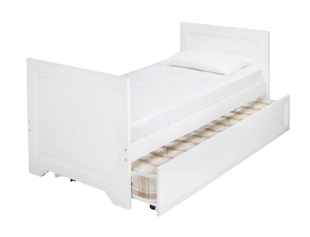 - Westport White Wooden Day Bed Plus Trundle - BF Beds - Leeds.