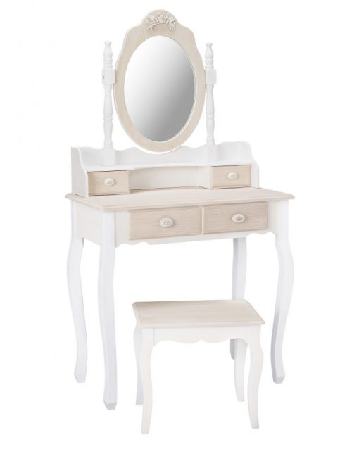 JULIETTE DRESSING TABLE WITH MIRROR AND STOOL ANGLE – Copy