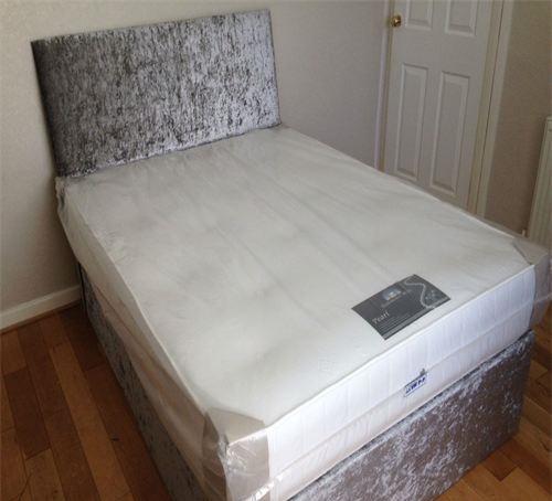 Crush Velvet Divan Base Bf Beds Cheap Beds Leeds