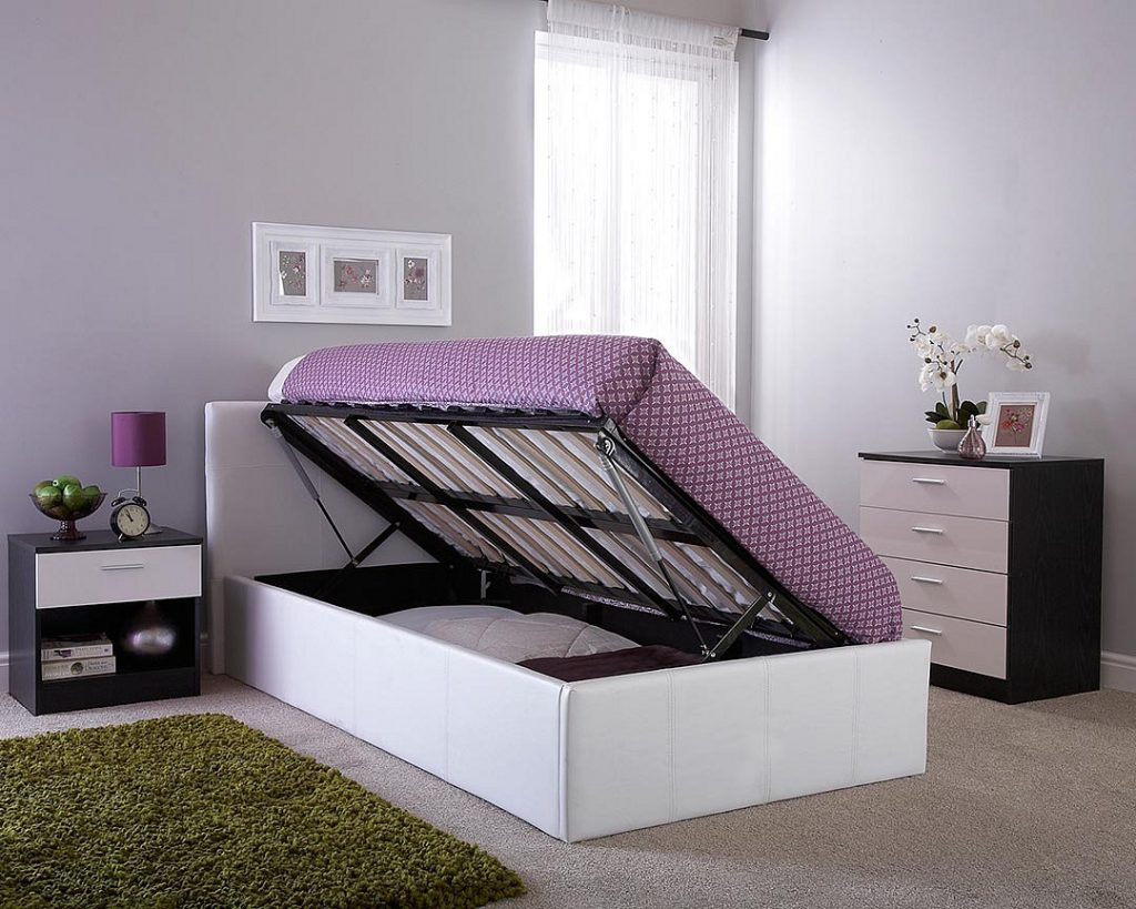 Side Lift Ottoman Storage Bed Bf Beds Leeds