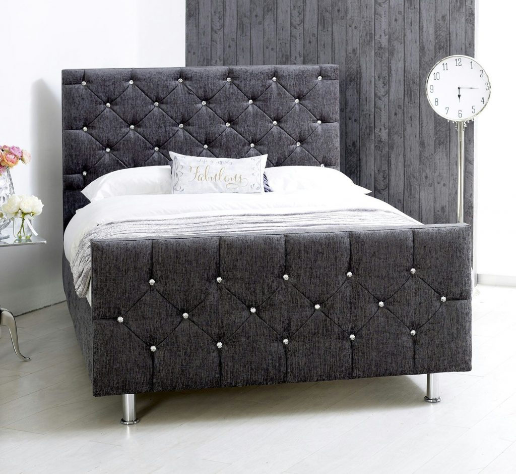 Matilda Sleigh Chenille New To Bf Beds Cheap Beds Leeds