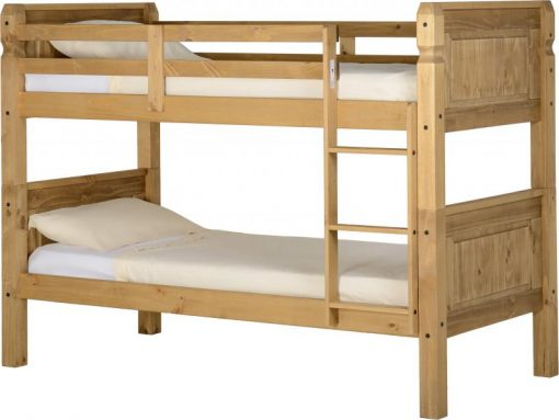 Corona 3′ Bunk Bed in Distressed Waxed Pine
