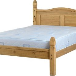 Waxed Pine Bed - Corona Low Foot End