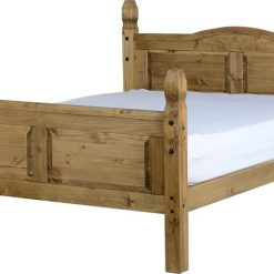 Corona 5' Bed High Foot End in Distressed Waxed Pine