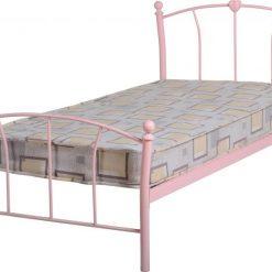 Catlin 3ft pink metal bed