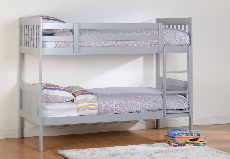 Kennedy Grey Wooden Bunk Beds Bf Beds Leeds Cheap Beds Leeds